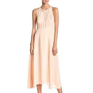 NWT Peach Nude Embellished Halter Neck Midi Dress